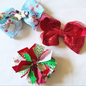 Christmas Bow Trio☃️